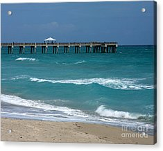 Beautiful Day At The Beach Acrylic Print by Sabrina L Ryan