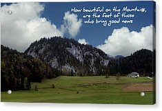 Beautiful Mountains Acrylic Print by Cecil Fuselier