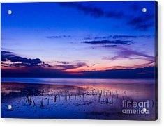 Beautiful Sea In Twilight Acrylic Print by Mongkol Chakritthakool