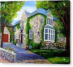 Beautiful Westmount Home Acrylic Print by Carole Spandau