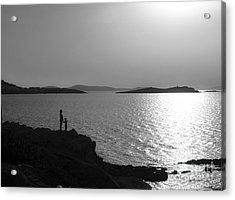 Beauty Of Mykonos Acrylic Print by Leslie Leda