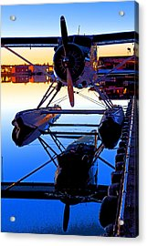 Beaver At Twilight- Abstract Acrylic Print by Tim Grams
