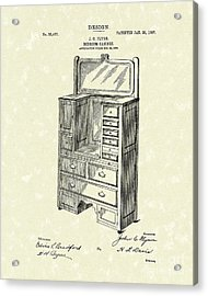 Bedroom Cabinet Design 1907 Patent Art Acrylic Print by Prior Art Design