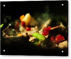 Beef With Vegetables Acrylic Print by Rebecca Sherman