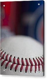 Beer And Baseball Acrylic Print by Alan Look