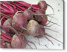Beets Me Acrylic Print by Denise Pohl