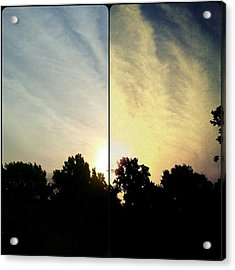 #before & #after #sunrise #sky #clouds Acrylic Print by Kel Hill
