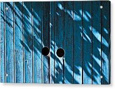 Behind  Blue Doors Acrylic Print by Tal Richter