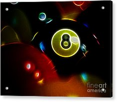 Behind The Eight Ball - Electric Art Acrylic Print by Wingsdomain Art and Photography
