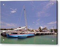 Belize Sailor Acrylic Print by Ken  Collette