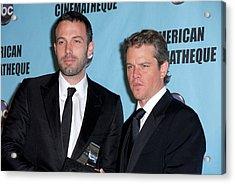 Ben Affleck, Matt Damon In Attendance Acrylic Print by Everett