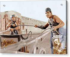Ben-hur, From Left Francis X. Bushman Acrylic Print by Everett