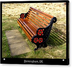 Benches Acrylic Print featuring the photograph Bench 01 by Roberto Alamino