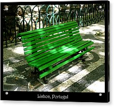 Benches Acrylic Print featuring the photograph Bench 02 by Roberto Alamino