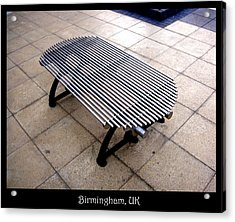 Benches Acrylic Print featuring the photograph Bench 03 by Roberto Alamino