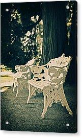 Benches Acrylic Print by Joana Kruse