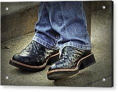 Bennys Boots Acrylic Print by Joan Carroll