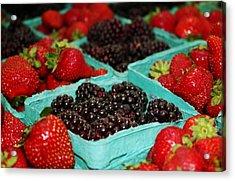 Berries Acrylic Print by Cathie Tyler