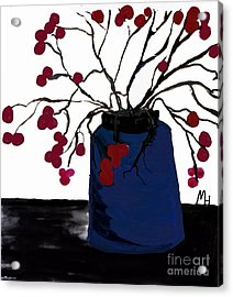 Berry Twigs In A Vase Acrylic Print by Marsha Heiken