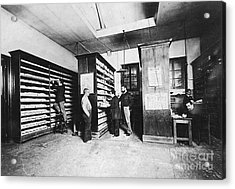 Bertillons Filing System, 19th Century Acrylic Print by Science Source