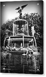 Bethesda Fountain Acrylic Print by Paul Ward