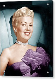 Betty Grable, Ca. 1950s Acrylic Print by Everett