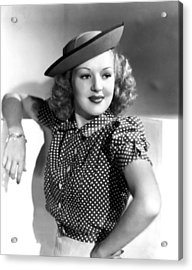 Betty Grable, Paramount Pictures, Late Acrylic Print by Everett