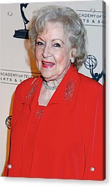 Betty White At Arrivals For The Academy Acrylic Print by Everett