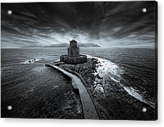 Beyond The Sea There Is A Small Prison Acrylic Print by Stavros Argyropoulos