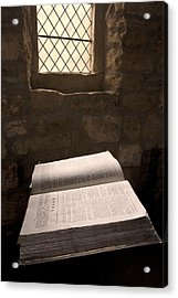 Bible In A Church, Rosedale, North Acrylic Print by John Short