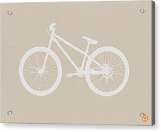 Bicycle Brown Poster Acrylic Print by Naxart Studio