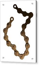Bicycle Chain Acrylic Print by Tony Cordoza