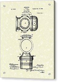 Bicycle Lamp Design 1900 Patent Art Acrylic Print by Prior Art Design