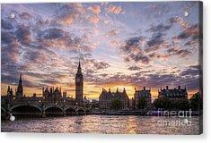 Big Ben London Acrylic Print by Lee-Anne Rafferty-Evans