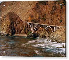 Big Creek Bridge Close Acrylic Print by Jeff Lowe