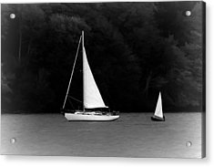 Big Sailboat Little Sailboat Acrylic Print by Tracie Kaska