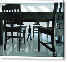 Big Table And Chairs Acrylic Print by Jim Wright