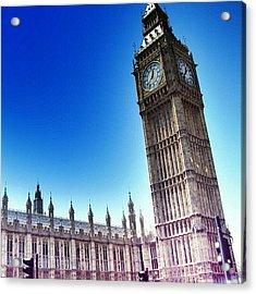 #bigben #uk #england #london2012 Acrylic Print by Abdelrahman Alawwad