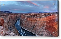Bighorn River Winter Sunset Acrylic Print by Leland D Howard