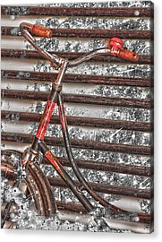 Bikelock Acrylic Print by JC Photography and Art