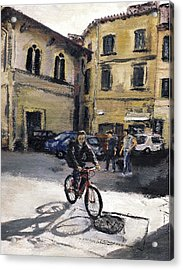 Biker Florencia Acrylic Print by Randy Sprout