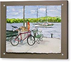 Bikes At Fish Creek Acrylic Print by Laurel Fredericks