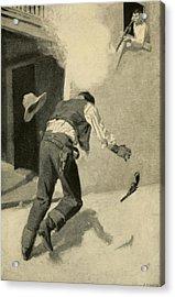 Billy The Kid Killing Robert Ollinger Acrylic Print by Everett
