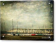 Biloxi Bay Bridge Acrylic Print by Joan McCool