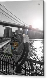 Binoculars Nyc View Acrylic Print by AHcreatrix