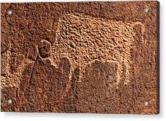 Bison Hunt Acrylic Print by David Lee Thompson