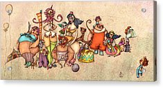 Bizarre Circus People Acrylic Print by Autogiro Illustration