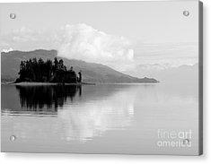Black And White Island Near Hoonah Acrylic Print by Darcy Michaelchuk