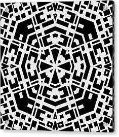 Black And White Kaleidoscope Acrylic Print by David G Paul