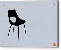 Black Chair Acrylic Print by Naxart Studio